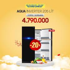 Siêu Thị Điện Máy - Nội Thất Chợ Lớn - ▪️ Tủ lạnh Aqua Inverter 205 lít  T219FA giảm 20% Giá còn: 4.790.000 (̶5̶̶.̶̶9̶̶9̶̶0̶̶.̶̶0̶̶0̶̶0̶) => Chi  tiết SP tại >> https://dienmaycholon.vn/tu-lanh/tu-lanh-aqua-inverter-205-lit-aqrt219fa-pb