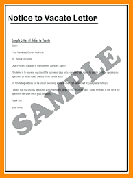 Letter Template Vacating Property Best Of 6 Sample Notice To
