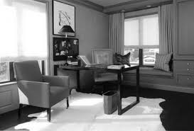 decorating work office decorating ideas. Modern Small Work Office Using Den Decorating Ideas Added Custom Black Wooden Square Table And Accent Chairs On White Rugs As Wel Glass Windows R