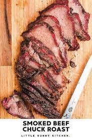 texas style smoked beef chuck roast