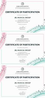 Choir Certificate Template Free Choir Certificate Of Participation Certificate Of