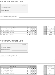 Comment Card Template | Download Free & Premium Templates, Forms ...