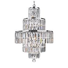 1400cc empire 5 light chrome chandelier with clear bevelled glass ts