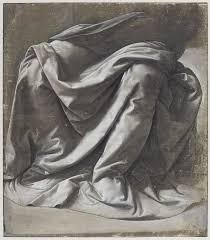 Drapery Drawing Drapery For A Seated Figure Louvre Museum Paris