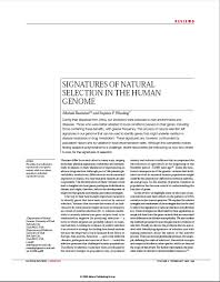 stephen wooding natural selection in human genes