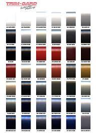 Toyota Trim Code Chart Vehicle Graphics Toyota Replica Colored Molding