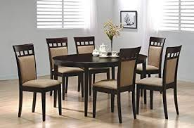 wooden dining room furniture. Wonderful Room 7pc Contemporary Cappuccino Finish Solid Wood Dining Table Chairs Set With Wooden Room Furniture W