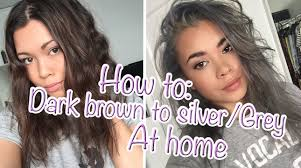 how to go from dark brown to silvergrey hair at home youtube brown dark gray