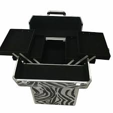 noroomaknet 3 in 1 makeup case organizer jewelry stroage box organizer cosmetic case portable leopard grain makeup case white