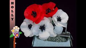 Make A Paper Poppy Flower How To Make Paper Flowers Tutorial Pretty Poppies