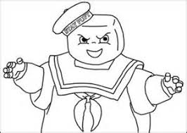 Small Picture Stay Puft Marshmallow Man Free Coloring Pages