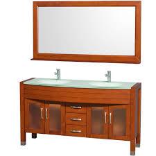 60 double sink bathroom vanities. Wyndham Collection Daytona 60 Inch Double Bathroom Vanity In Cherry With  Green Glass Top Integral Sinks - Vanities Amazon.com Double Sink Bathroom Vanities