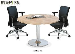 inspire insd90 round discussion meeting table