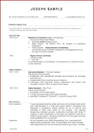 Fresh Accounting Job Resume Format Mailing Format