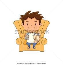 boy watching tv clipart. child watching tv boy clipart t