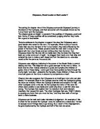 what make a great leader essay  good leader essays and papers 123helpme com