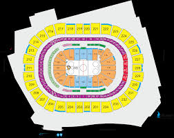 Consol Seating Chart With Seat Numbers Ppg Paints Seating Chart Hockey Ppg Paints Arena Seating