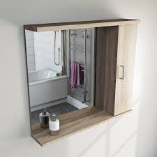 Sienna Oak Bathroom Mirror with Lights 850mm