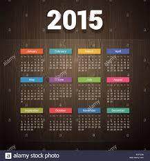 Simple 2015 Calendar Simple 2015 Calendar On Dark Wooden Background Stock Photo 76556127