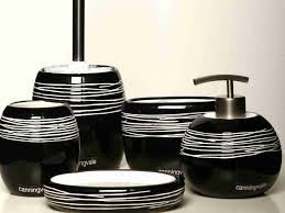 black and white bathroom accessories. Contemporary Black Eye Catching Bathroom Accessories Sets Black Contemporary Interior  Throughout And White Plan 11 For R