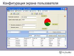 Презентация на тему Управление портфелем ценных бумаг Научный  9 9 Конфигурация экрана пользователя