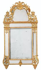 A GILTWOOD MIRROR, RGENCE
