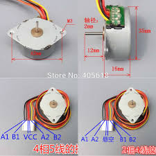 online get cheap 5 wire stepper aliexpress com alibaba group 1pc dia 35mm 2 phase 4 wire 4 phase 5 wire hybrid stepper motor step angle 7 5 degree miniature stepping motor