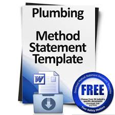Download A Free Plumbing Method Statement Template Document