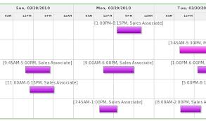 Employee Schedule Chart Under Fontanacountryinn Com