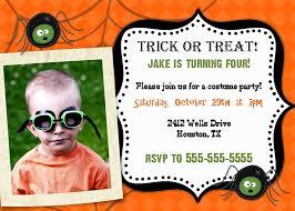 Kids Halloween Party Invitation Costume Party Invitation