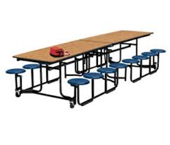 round school lunch table. Compare 12\u0027 Long Cafeteria Table With 16 Stools Black Edge And Frame, D44044 Round School Lunch K