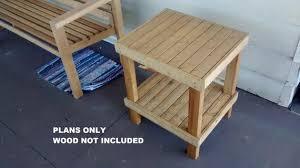 diy patio end table plans outdoor