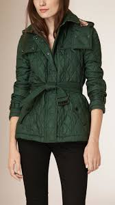 Burberry Diamond Quilted Jacket in Green | Lyst & Gallery. Women's Quilted Jackets Adamdwight.com