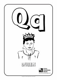 Small Picture Letter Q Coloring Alphabet Cool Coloring Pages