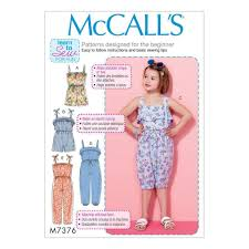 It's Sew Easy Patterns Gorgeous McCALL S SEWING PATTERN CHILDRENS GIRLS ROMPER JUMPSUIT SIZE 448 48