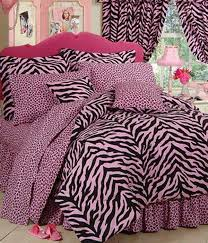 zebra print dorm room bedding extra long twin size available in 7 color combinations