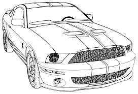 Printable Mustang Car Car Coloring Page Ford Mustang School