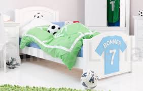 boys football bedroom ideas. Bedroom. White Wooden Bed With Green Cover On Floor. Modern Look Of Boys Football Bedroom Ideas