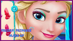 frozen princess games frozen prom makeup design s make up games you