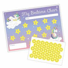 Unicorn Bedtime Chart Stickers