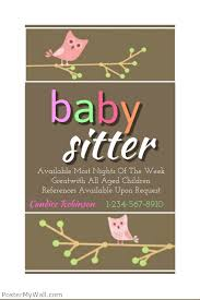 Babysitting Ads Baby Sitting Flyer Template Postermywall