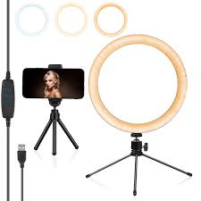 Desk Ring Light Amazon 10 Inch Led Ring Light With Desk Tripod Stand And Phone Holder For 20 99 Amazon