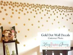 gold polka dot wall decals baby nursery dots stickers decal children vinyl room