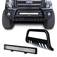 amazon com tuokiy black bull bar bumper grille guard for 04 17 ford LED Light Bar Wiring Harness Diagram at Bull Bar Led Light Wiring Harness Kit