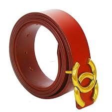 fashionable faux leather belt for women brown golden