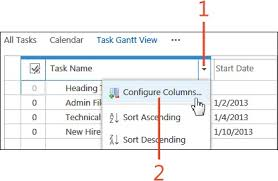 Sharepoint Online Gantt Chart View Sharepoint 2013 Organizing People And Work Viewing Tasks