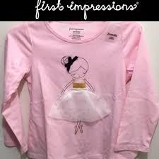 Light Pink T Shirt Design Light Pink Girls 24 Months Hand Design Baby Ballerina Dancer Tee Shirt Size Os One Size