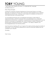 Ideas Collection Sample Cover Letter Mechanical Maintenance Engineer
