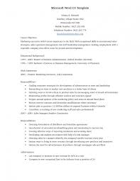 Resume Templates On Microsoft Word Magnificent Resume Template Sample Cv Form In English