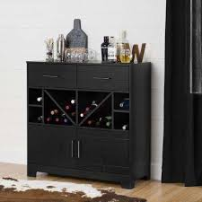 buffet with wine rack. Delighful With Vietti Bar Cabinet With Bottle Storage And Drawers Black Oak Throughout Buffet With Wine Rack